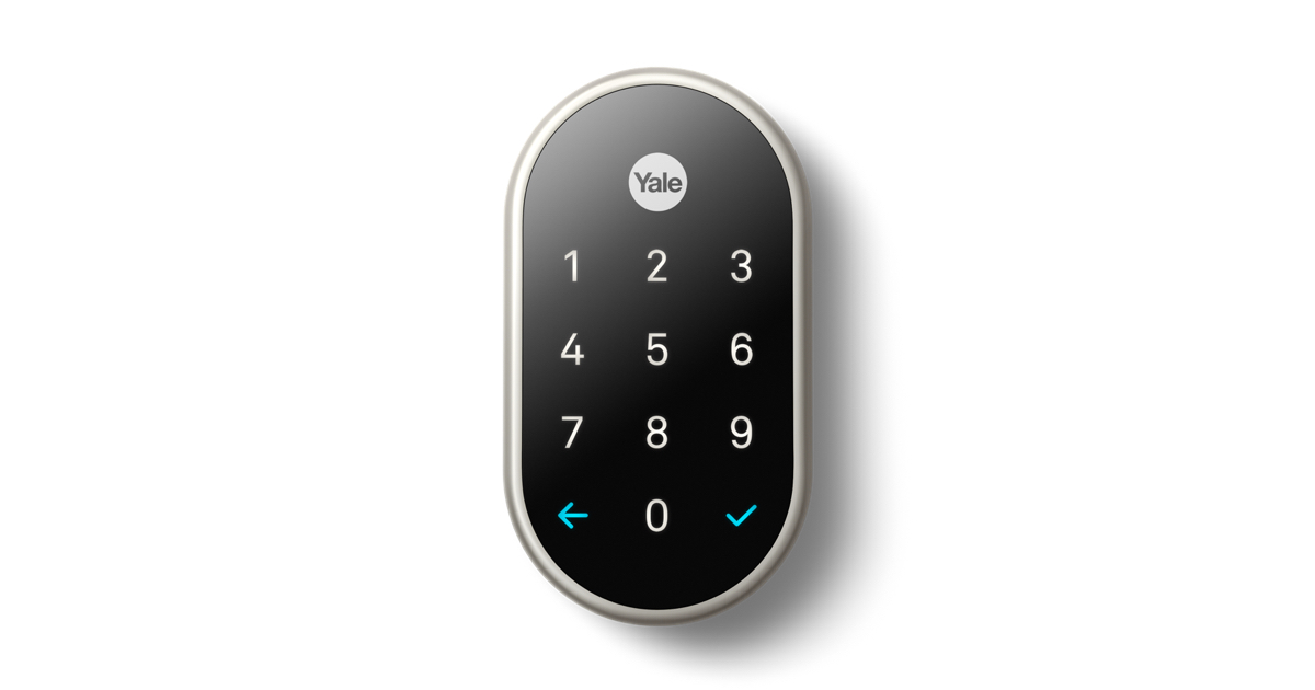 nest x yale lock with nest connect satin nickel